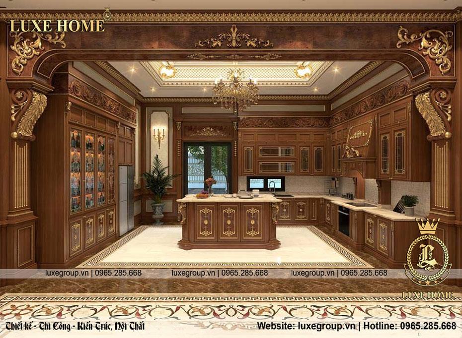 nội thất phòng bếp lâu đài