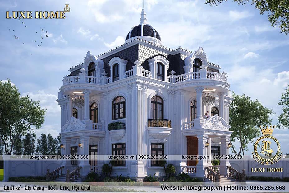 thiết kế biệt thự 2 tầng tân cổ điển bt 22178