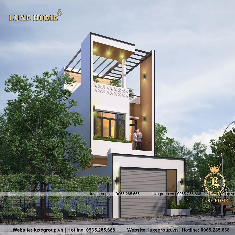 thiết kế biệt thự phố bt 2272