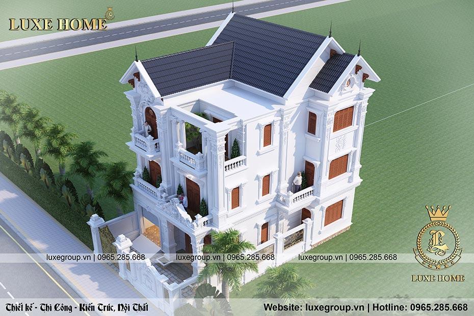mẫu thiết kế biệt thự 3 tầng cổ điển pháp bt 3196