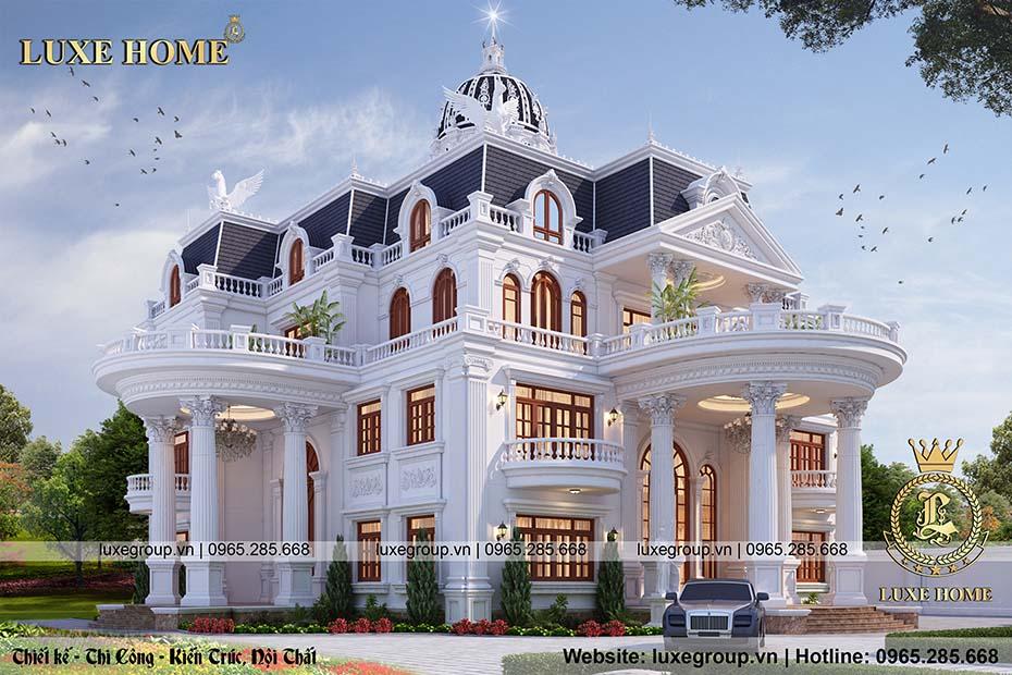 biệt thự tân cổ điển 3 tầng đẹp bt 32015
