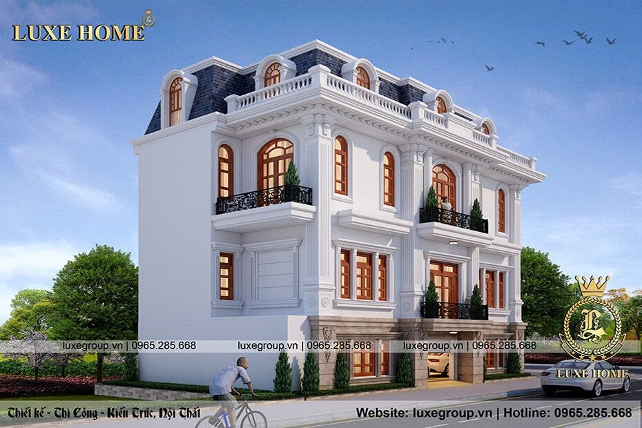 biệt thự tân cổ điển 3 tầng bt 3183 03
