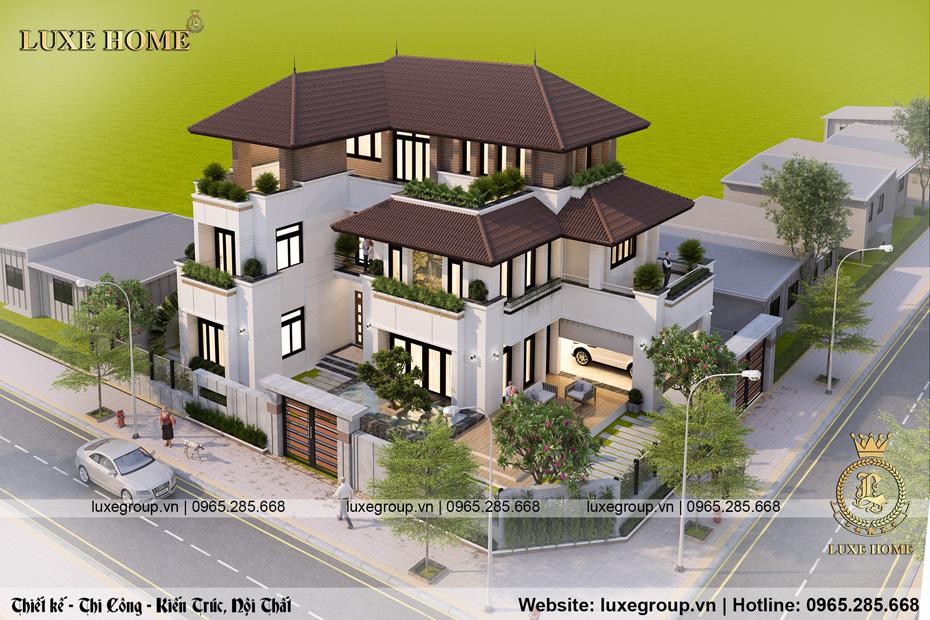 thiết kế biệt thự 3 tầng bt 3233