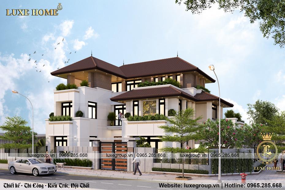 thiết kế biệt thự hiện đại 3 tầng bt 3233