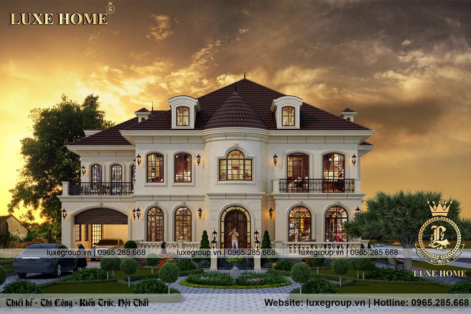 thiết kế biệt thự lâu đài pháp bt 2254