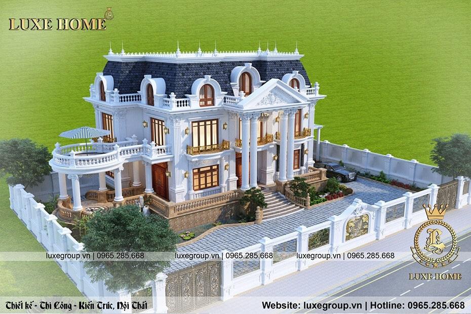 lâu đài tân cổ điển 2 tầng bt 21799