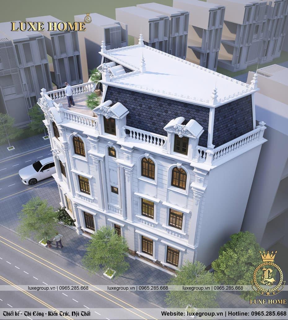 biệt thự phố 3 tầng mái mansard bt 3120