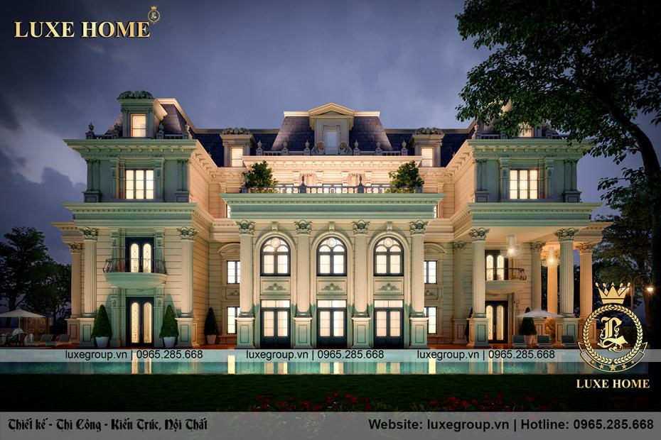 dinh thự lâu đài 3 tầng sân vườn bt 3240