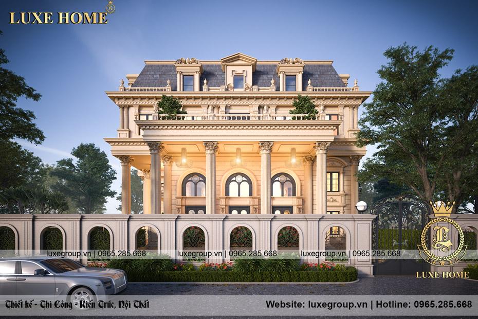 dinh thự lâu đài 3 tầng tân cổ điển bt 3240