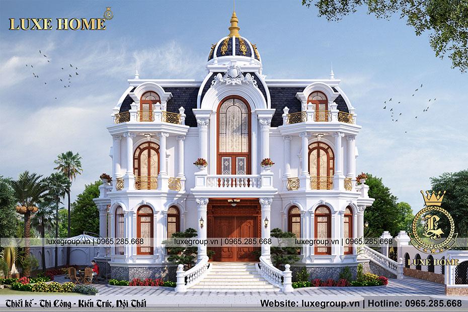 thiết kế lâu đài 2 tầng tân cổ điển ld 21973
