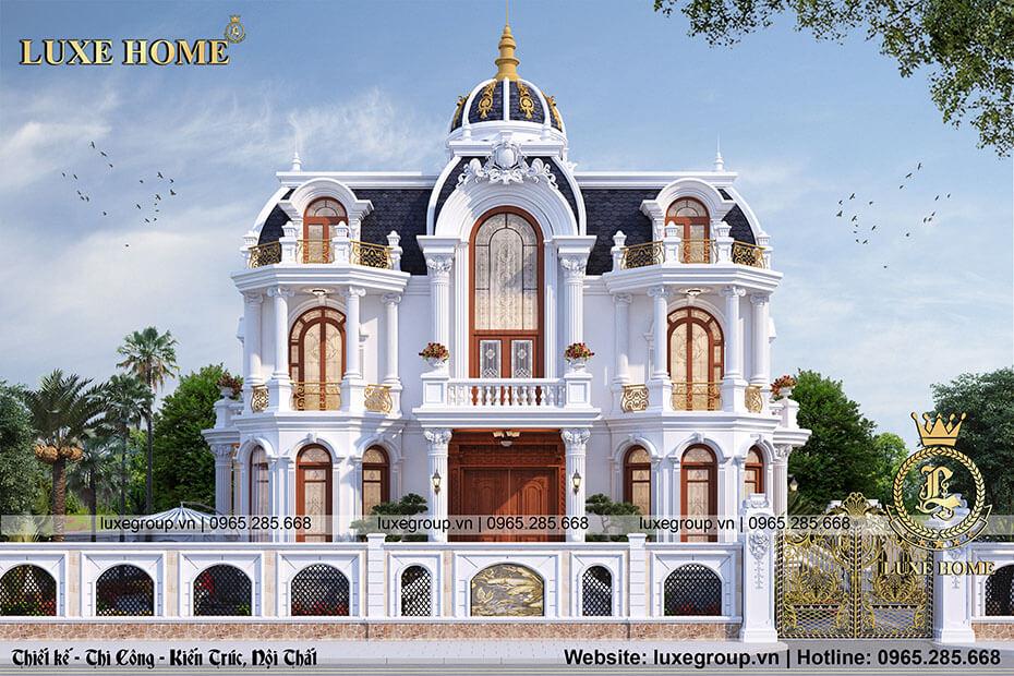 thiết kế lâu đài 2 tầng ld 21973