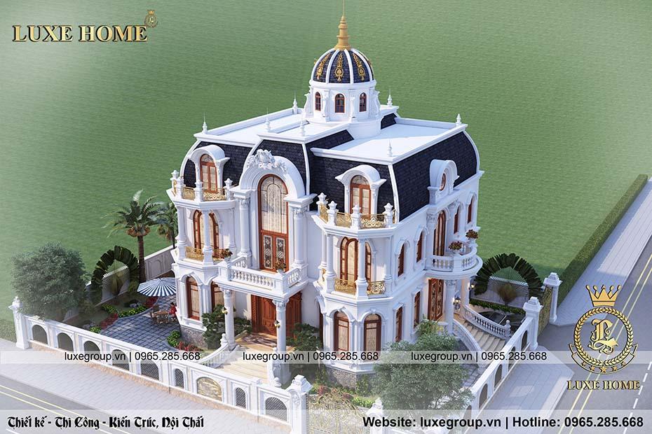 thiết kế lâu đài 2 tầng tân cổ điển ld 21978