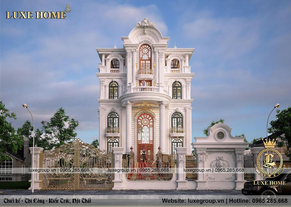 thiết kế lâu đài dinh thự 5 tầng tân cổ điển pháp ld 51195