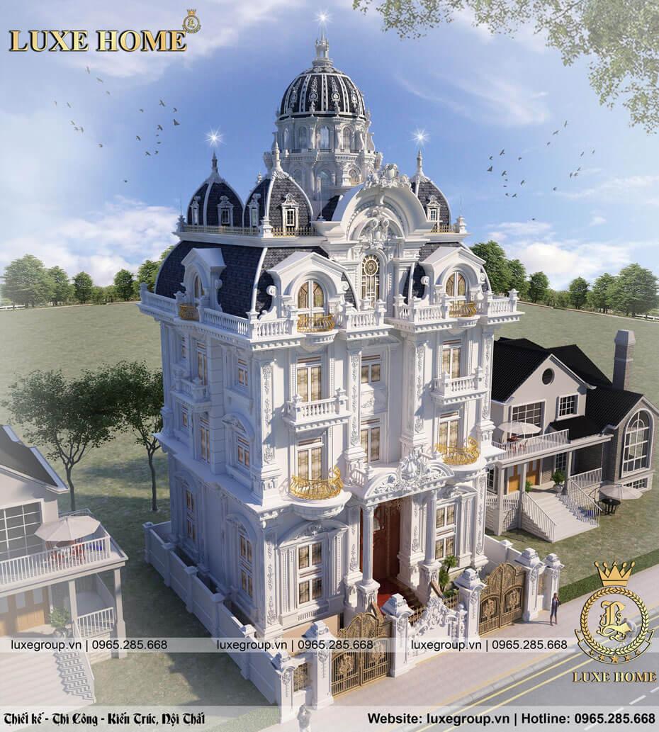 lâu đài 5 tầng cổ điển pháp sang trọng