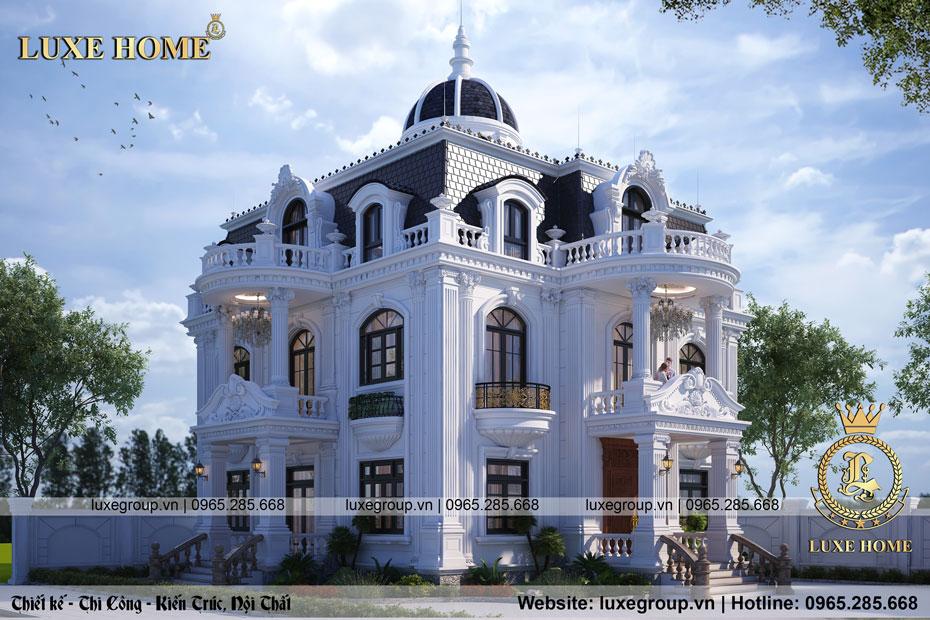 thiết kế lâu đài tân cổ điển 2 tầng pháp ld 2217