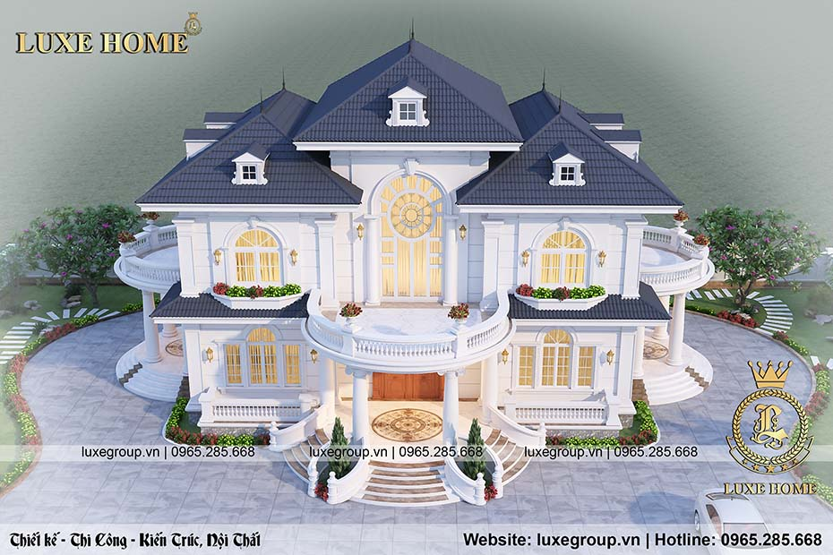 thiết kế nhà vườn 2 tầng bt 2202