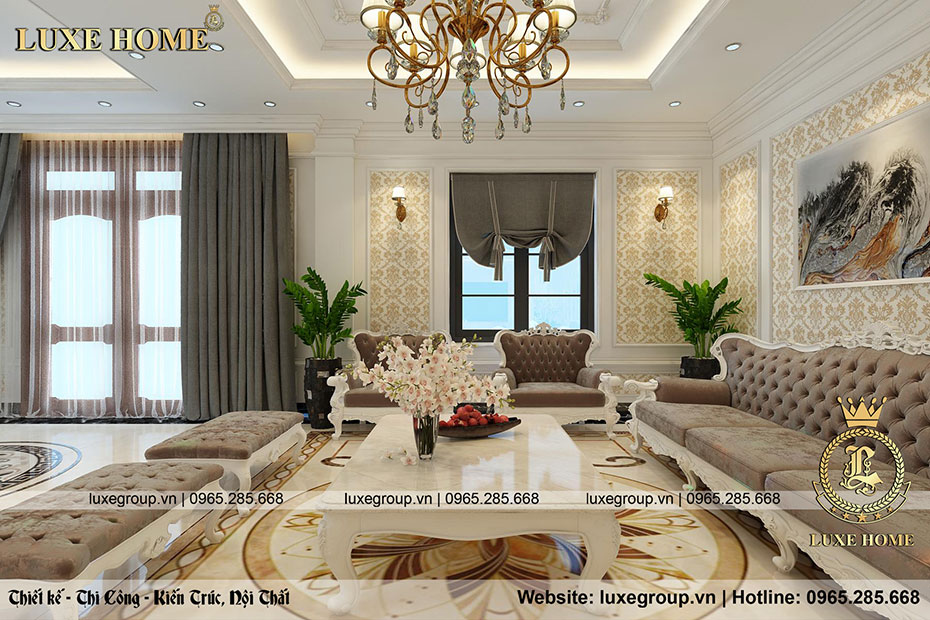 nội thất phòng khách sang trọng nt 0155