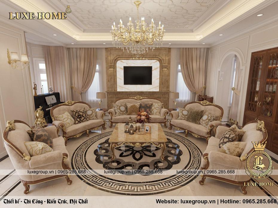 thiết kế nội thất phòng khách anh sang 02