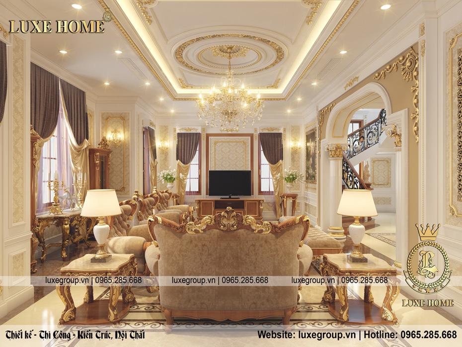 thiết kế phòng khách biệt thự nt 0145