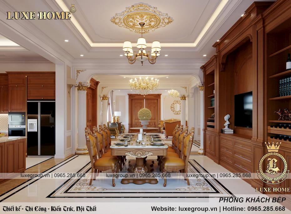 thiết kế phòng khách bếp sang trọng 04
