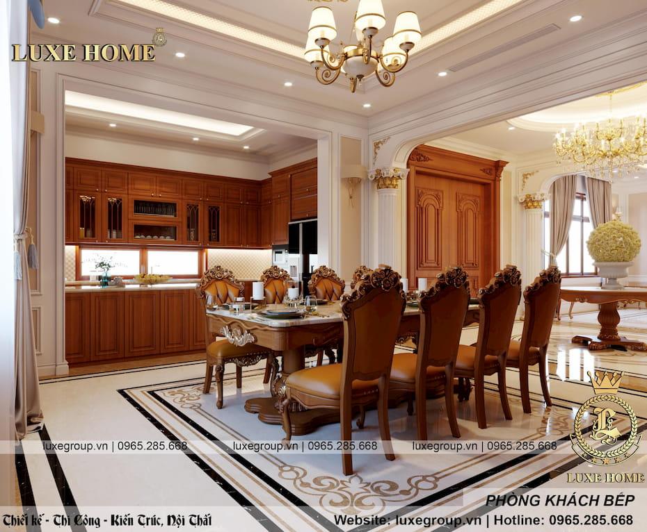 thiết kế phòng khách bếp sang trọng 05