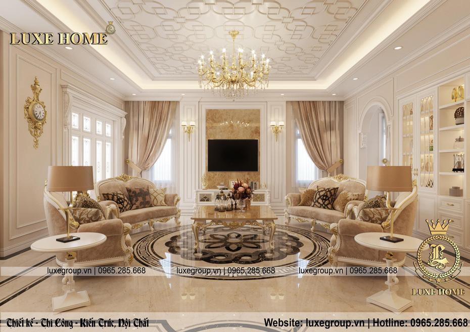 nội thất lâu đài phòng khách ld 1168 04
