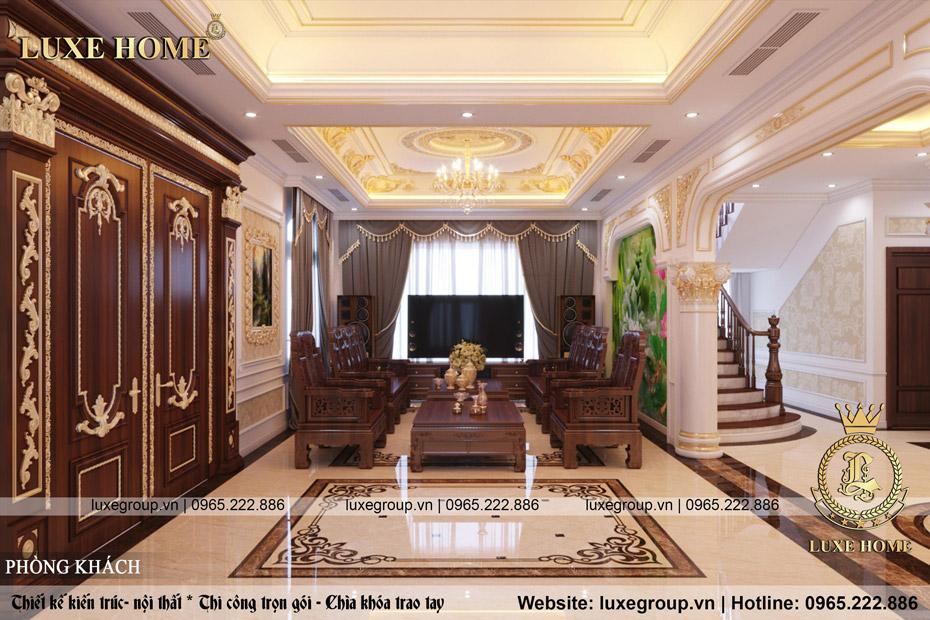 thiết kế phòng khách sang trọng nt 0162
