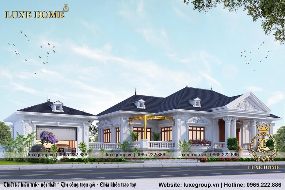 Biệt Thự Sân Vườn Cổ Điển 1 tầng Tại Đồng Nai - Mã số BT 1112